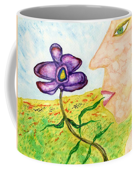 Jim Taylor Coffee Mug featuring the painting Pretty Enough To Eat by Jim Taylor