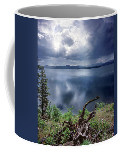 Idaho Scenics Coffee Mug featuring the photograph Priest Lake Light by Leland D Howard