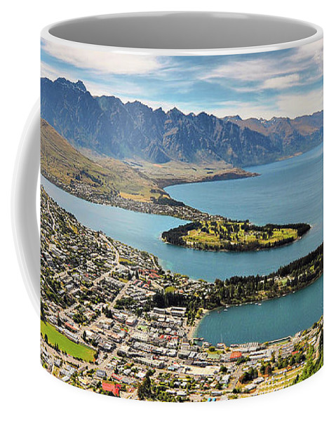 New Zealand Coffee Mug featuring the photograph Queenstown by Delphimages Photo Creations
