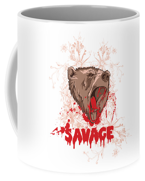 Animal Coffee Mug featuring the digital art Rampaging Bear Savage by Passion Loft