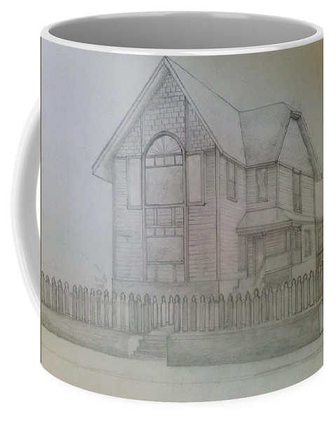 Drawing Of A House San Diego Coffee Mug featuring the drawing Ranch by Andrew Johnson