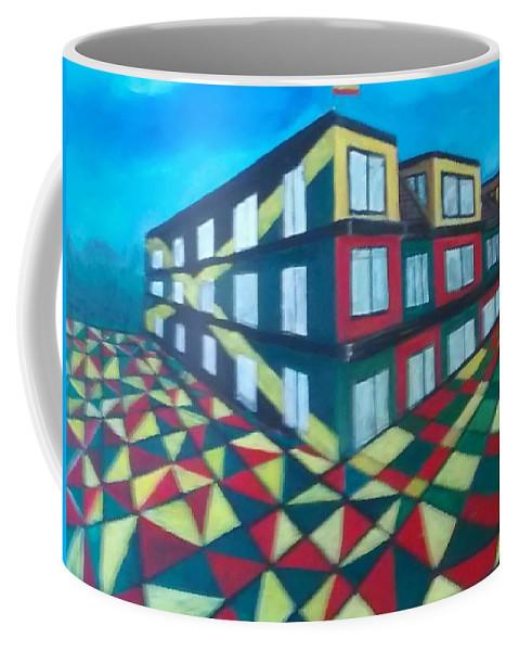Rasta Art Coffee Mug featuring the painting Rasta Academy by Andrew Johnson