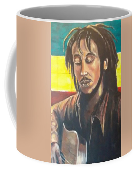 Rasta Art Coffee Mug featuring the painting Rasta Music by Andrew Johnson