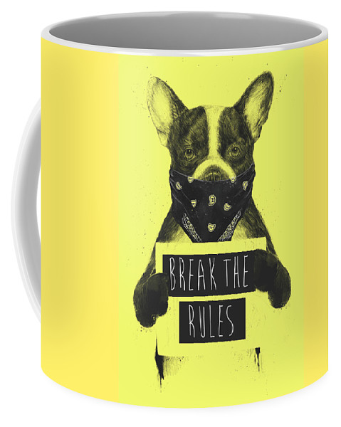 Dog Coffee Mug featuring the mixed media Rebel Dog II by Balazs Solti