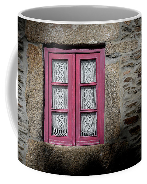 Red Window Coffee Mug featuring the photograph Red Window by Edgar Laureano