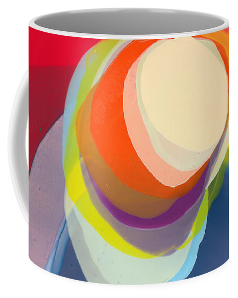 Abstract Coffee Mug featuring the painting Reflective by Claire Desjardins