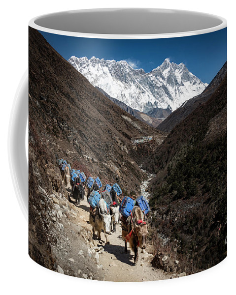 Three Passes Coffee Mug featuring the photograph Resupply by Peng Shi