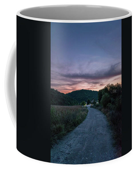 Road Coffee Mug featuring the photograph Road To Sunset by Yordan Nedialkov