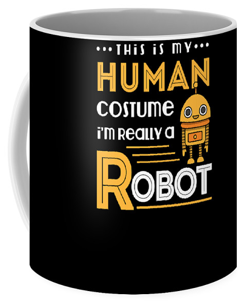 Attire Coffee Mug featuring the digital art Robot Human Costume by Thomas Larch
