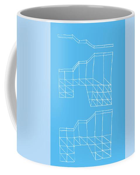 Yifat Gat Coffee Mug featuring the drawing Robotricks by Yifat Gat