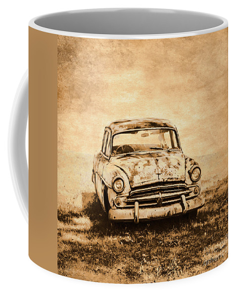 Old Coffee Mug featuring the photograph Rockabilly Relic by Jorgo Photography - Wall Art Gallery