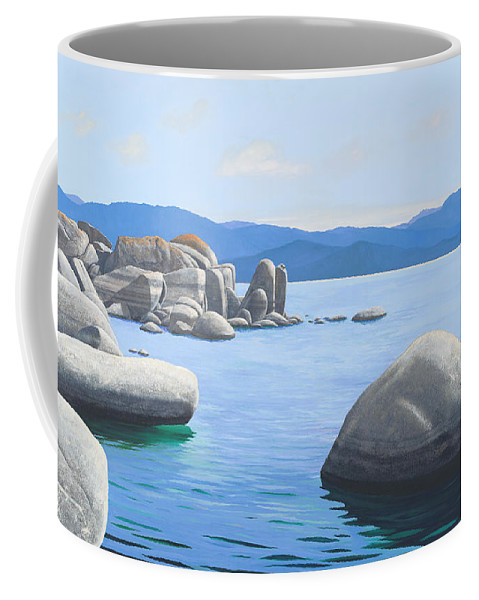 Lake Tahoe Coffee Mug featuring the painting Rocky Cove On Lake Tahoe by Frank Wilson