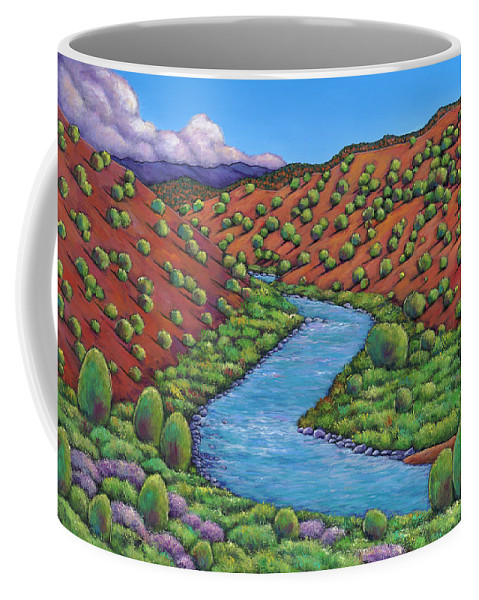 Landscape Coffee Mug featuring the painting Rolling Rio Grande by Johnathan Harris