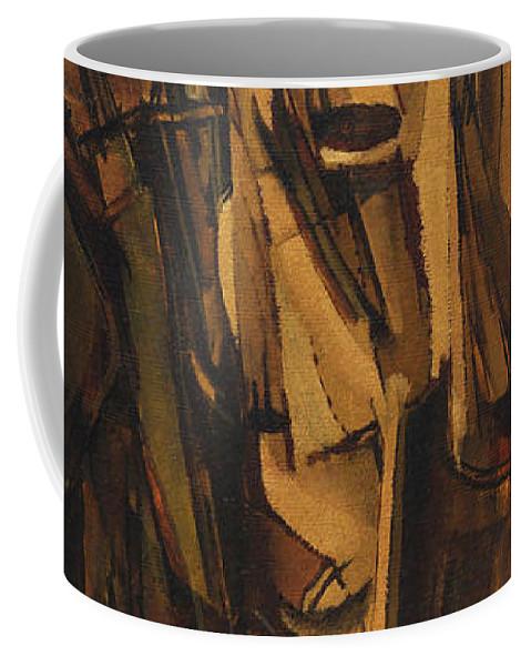 Sad Young Man On A Train Coffee Mug For Sale By Marcel Duchamp