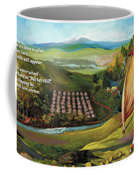 Kids Coffee Mug featuring the painting Sailbus Flight Home by Donna Hall