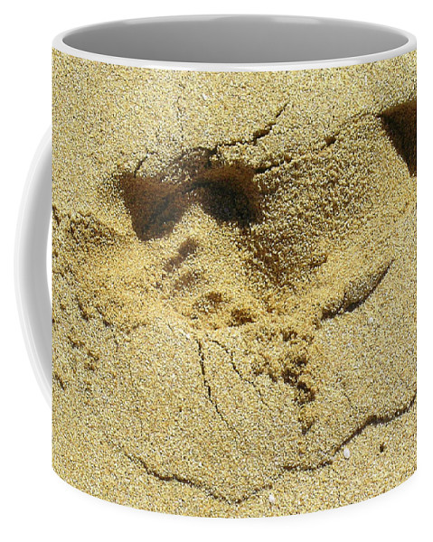 Quotes Greeting Cards Coffee Mug featuring the photograph Sand Between Your Toes by James Temple