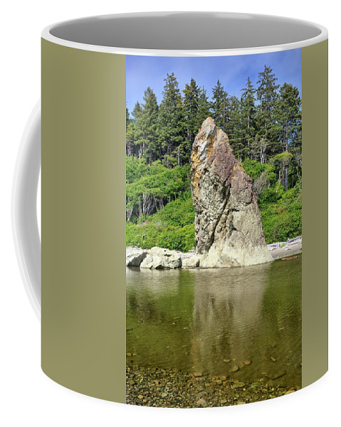Sea Stack Coffee Mug featuring the photograph Sea Stack At Ruby Beach by Kyle Lee