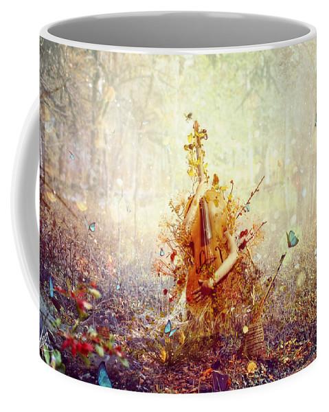 Surreal Coffee Mug featuring the digital art Silence by Mario Sanchez Nevado