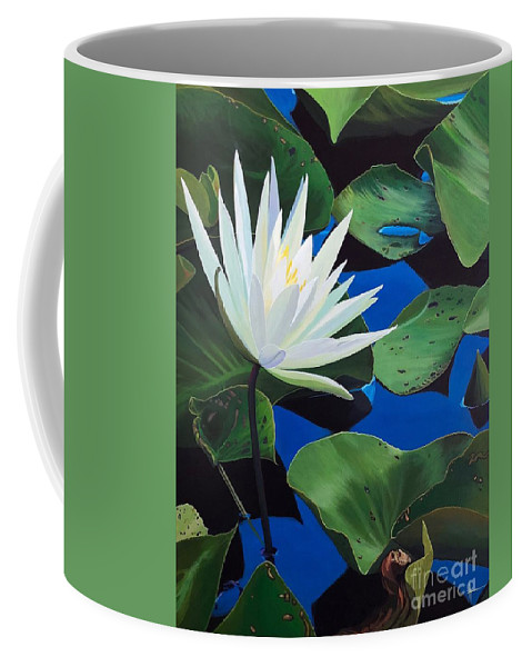 Aquatic Coffee Mug featuring the painting Silent Love by Hunter Jay