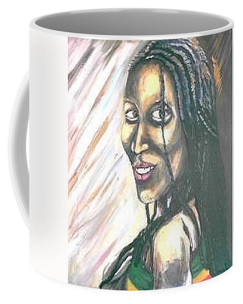 Coffee Mug featuring the painting Sister by Andrew Johnson