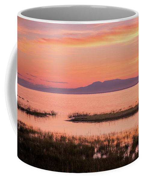 Alaska Coffee Mug featuring the photograph Sleeping Lady Sunset by Tim Newton