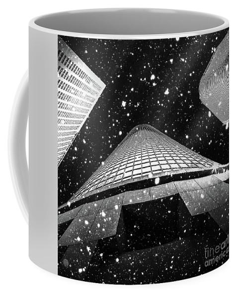 Snow Coffee Mug featuring the digital art Snow Collection Set 01 by Az Jackson