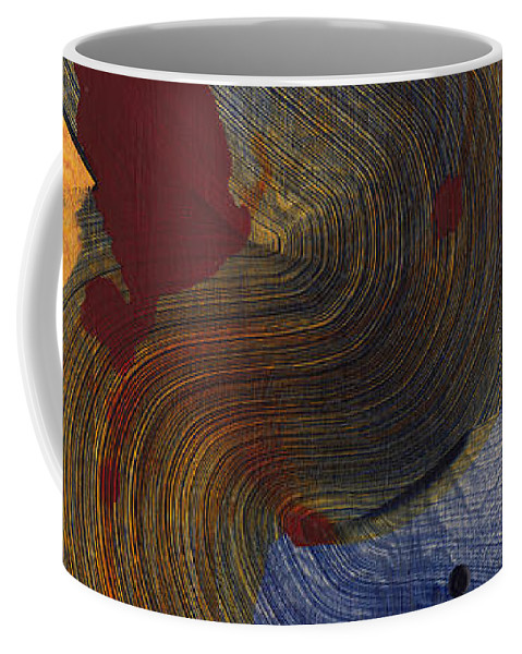 Abstract Coffee Mug featuring the painting Socal 03 by Claire Desjardins