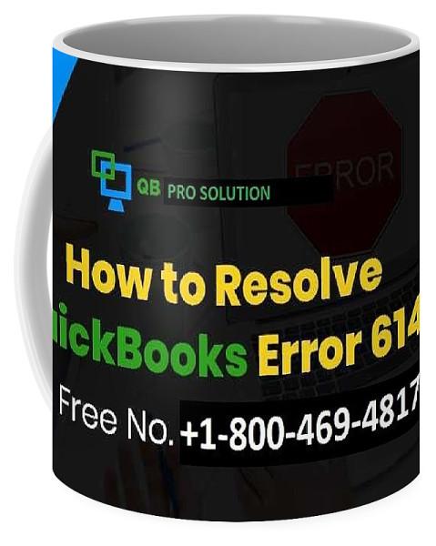 Quickbooks Error 6147-0 Coffee Mug featuring the mixed media Solution Quickbooks Web Connector Error 6147,0 by Emma