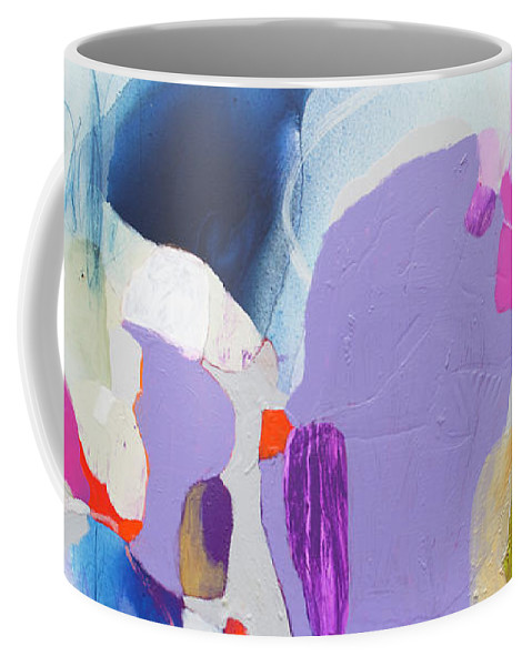 Abstract Coffee Mug featuring the painting Sometime In June by Claire Desjardins