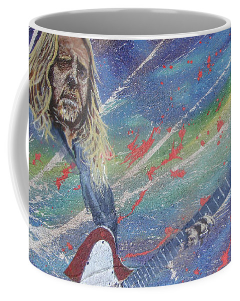 Warren Haynes Coffee Mug featuring the painting Soulshining by Stuart Engel
