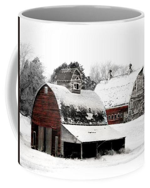 Christmas Coffee Mug featuring the photograph South Dakota Farm by Julie Hamilton