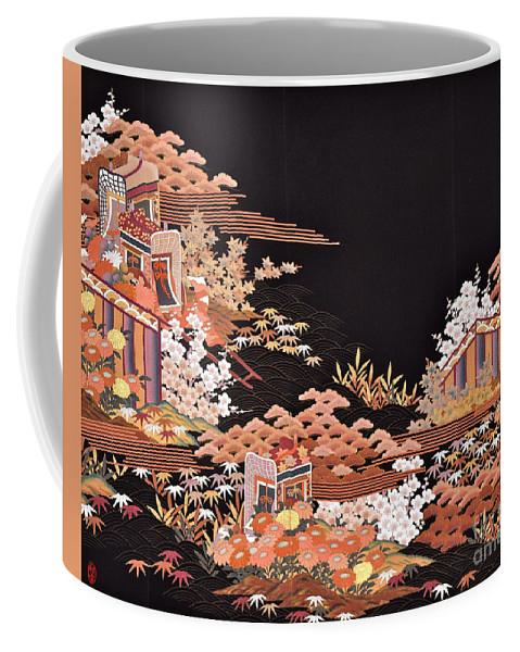 Coffee Mug featuring the digital art Spirit of Japan T45 by Miho Kanamori