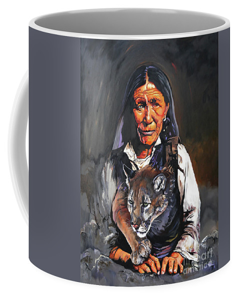 Collectible Coffee Mug featuring the painting Spirit Within by J W Baker