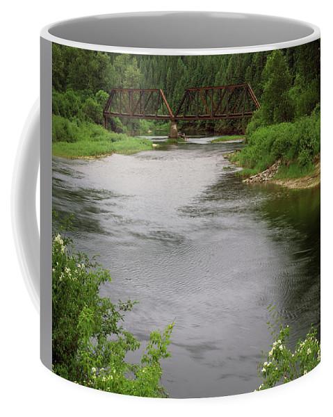 Saint Joe River Coffee Mug featuring the photograph St Joe Bridge by Leland D Howard