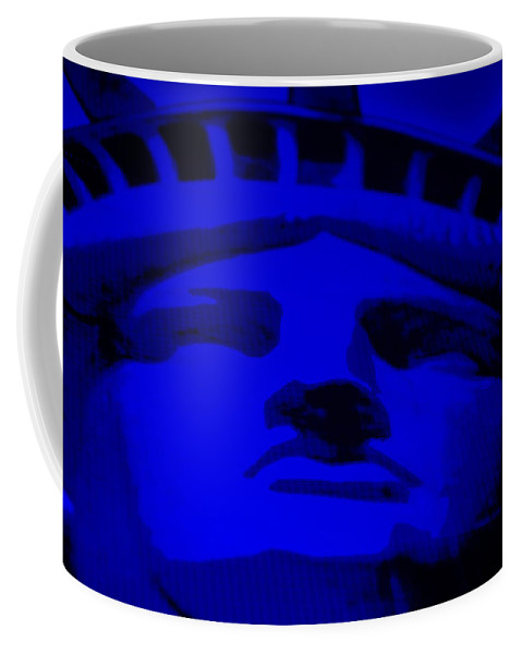 Statue Of Liberty Coffee Mug featuring the photograph Statue Of Liberty In Blue by Rob Hans