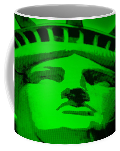 Statue Of Liberty Coffee Mug featuring the photograph Statue Of Liberty In Green by Rob Hans
