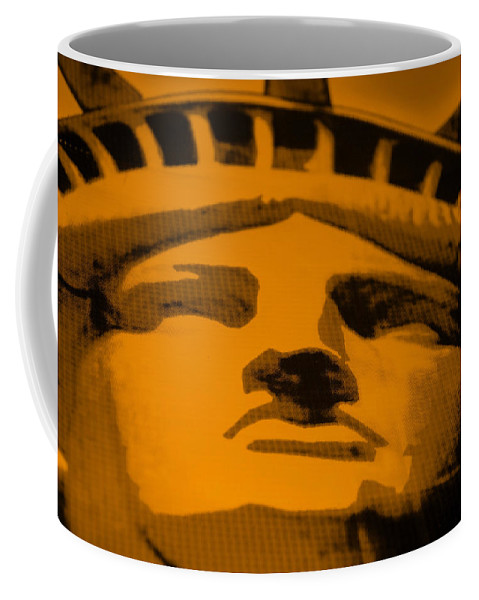 Statue Of Liberty Coffee Mug featuring the photograph Statue Of Liberty In Orange by Rob Hans