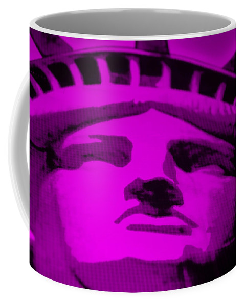 Statue Of Liberty Coffee Mug featuring the photograph Statue Of Liberty In Purple by Rob Hans