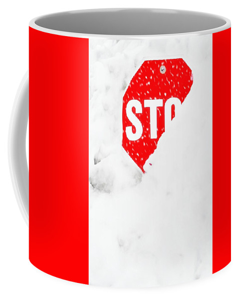 Stop Sign Coffee Mug featuring the photograph Stop by Diana Angstadt