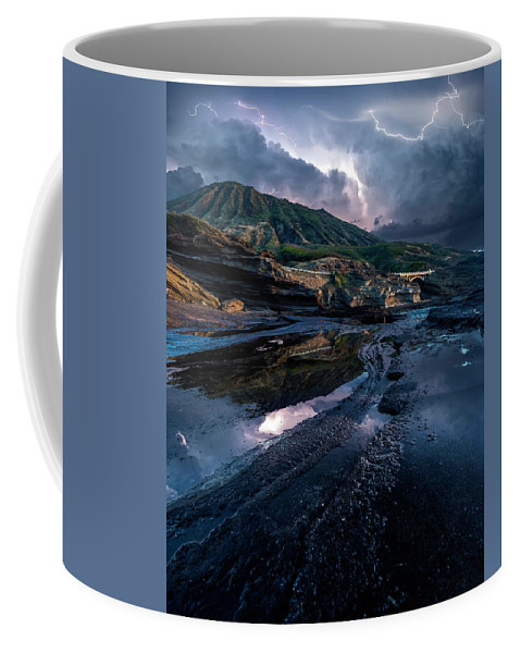 Oahu Coco Head Lightning Stormy Coffee Mug featuring the photograph Stormy by James Roemmling
