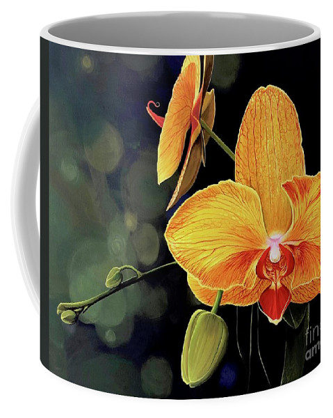 Floral Coffee Mug featuring the painting Summer Night by Hunter Jay