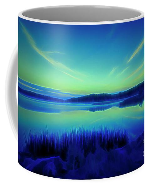 Atmosphere Coffee Mug featuring the digital art Summer Night by Veikko Suikkanen