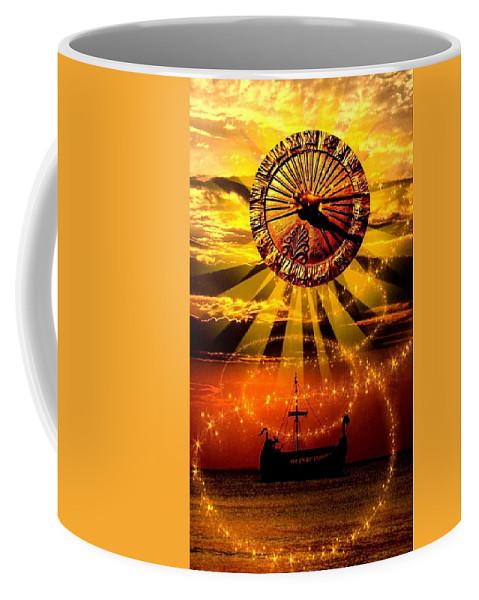 Coffee Mug featuring the digital art Sundial by Zoe Kelly