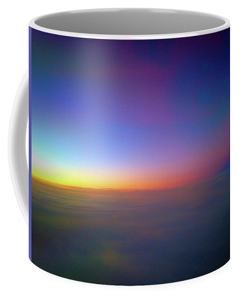 Sunset Coffee Mug featuring the photograph Sunset Above The Clouds by Ydania Ogando