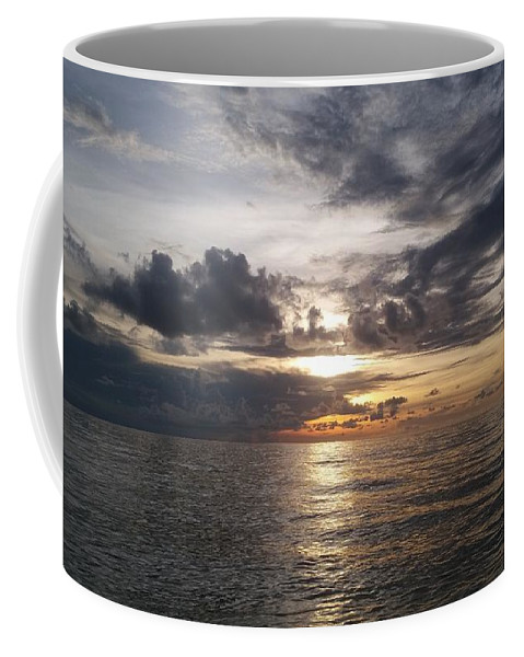Sunset Coffee Mug featuring the photograph Sunset by Cora Jean Jugan
