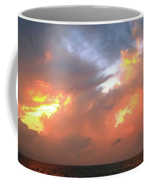 Sunset Coffee Mug featuring the photograph Sunset Storm Sky by Roupen Baker