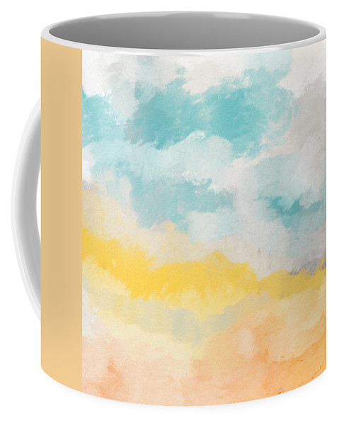 Landscape Coffee Mug featuring the mixed media Sunshine Day- Art by Linda Woods by Linda Woods