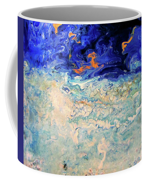 Ocean Coffee Mug featuring the painting Surge 6 by Kevin Moffatt