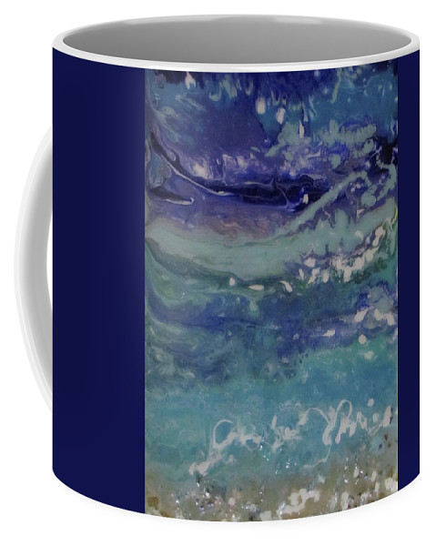 Ocean Coffee Mug featuring the painting Surge 7 by Kevin Moffatt