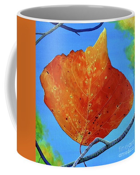 Autumn Coffee Mug featuring the painting Surrender by Hunter Jay